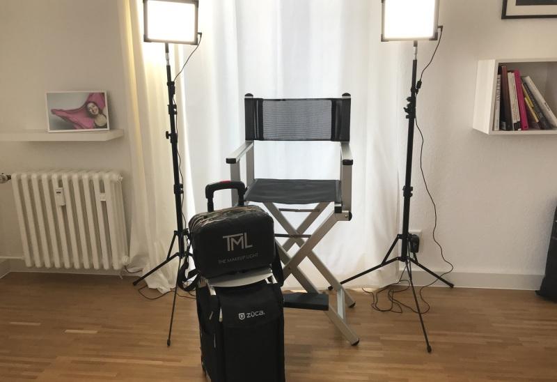 Makeup Chair Züca The Makeup Light Equipment Set up Düsseldorf